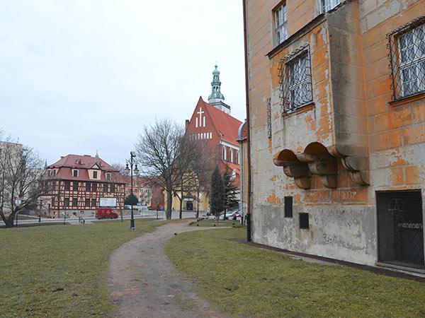 fragment miasta Oleśnica